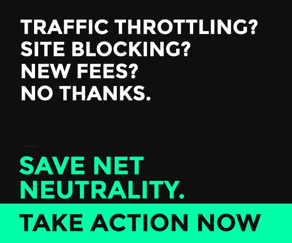 Good morning, won't you please take some time to save Net Neutrality?